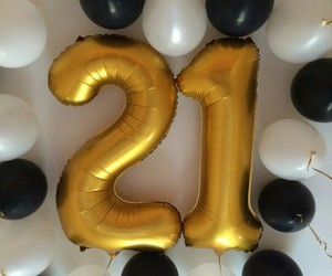 21, balloon, and gifts image