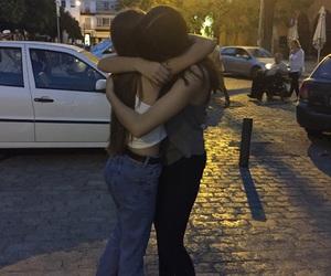 friendship, hug, and bestfriends image