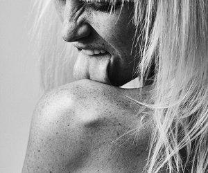 black, model, and blonde image