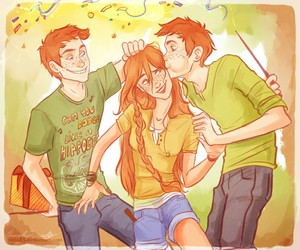 harry potter, ginny weasley, and fred weasley image