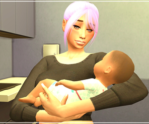 ts4, 100 baby challenge, and the sims 4 image