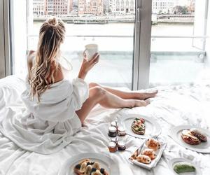 food, girl, and breakfast image