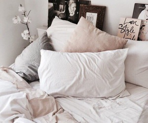 bed, home, and sheets image