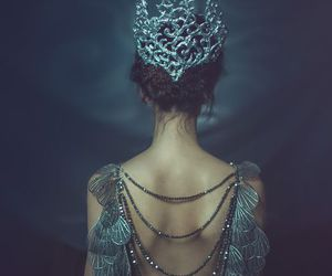 Queen, crown, and dress image