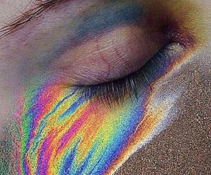 rainbow, eye, and aesthetic image