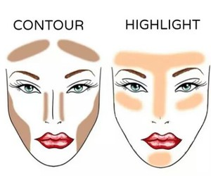 makeup, contour, and highlight image