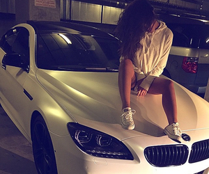 bmw, car, and girl image