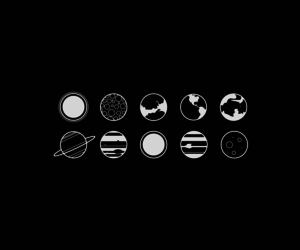 planet, black, and space image