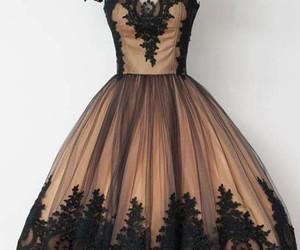 black prom dress, black homecoming dresses, and pretty prom dress image