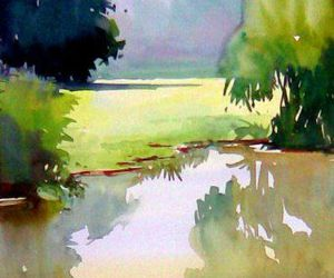 nature, painting, and trees image