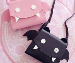 bag, pink, and black image