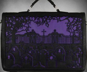 cemetery, gothic, and Halloween image