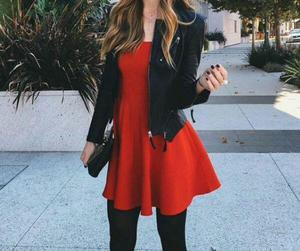 outfit, red, and dress image