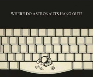 funny, space, and astronaut image