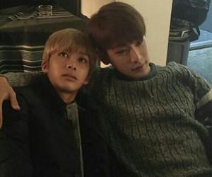 wonho, hyungwon, and kpop image