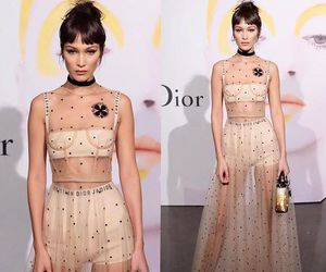 bella hadid and dior image