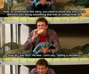 himym, how i met your mother, and sandwich image