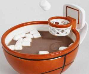 Basketball, coffee, and mug image