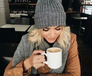 fashion, coffee, and autumn image