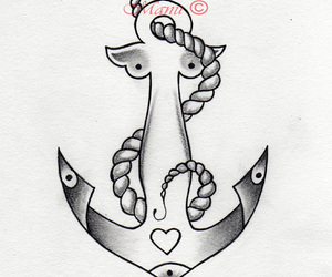 anchor, beautiful, and drawing image