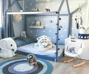 animals, bedroom, and blue image