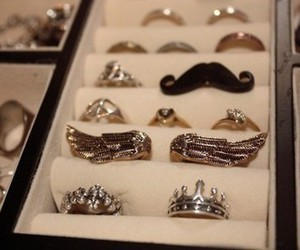 crown, rings, and diamonds image