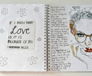 diary, journal, and love image