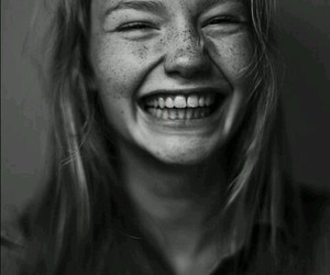 girl, smile, and freckles image