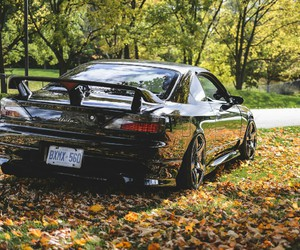 autumn, cars, and drift image