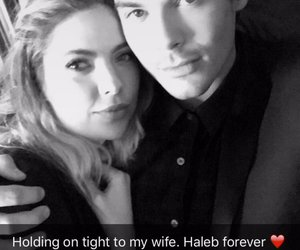 ashley benson, pll, and haleb image