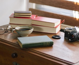 books, coffee, and reading image