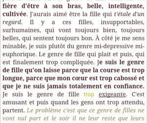 fille, life, and texte image