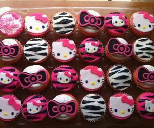 hello kitty, cupcake, and food image