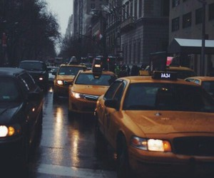 city, car, and taxi image