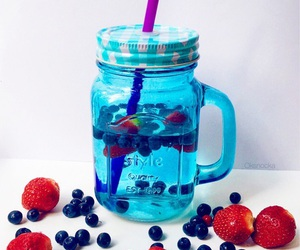 drink, berries, and food image