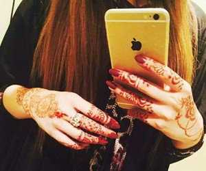 ❤ and iphone mehndi hairs image