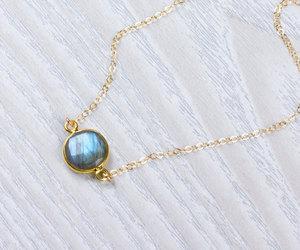 etsy, layered necklace, and gemstone necklace image