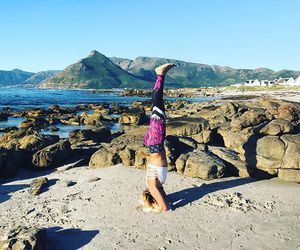 cape town, headstand, and yoga image