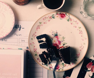 book, cake, and chocolate image