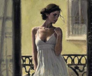 girl painting and fabian perez image
