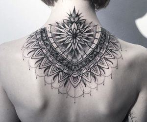 tattoo, back, and black image