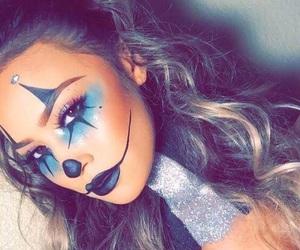 makeup, Halloween, and clown image
