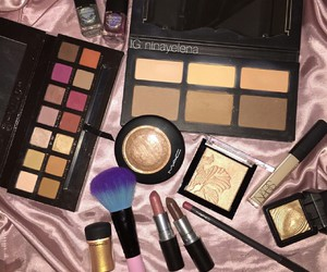 beauty, highlighter, and makeup image