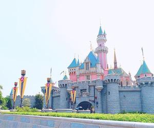 castle, disneyland, and hongkong image