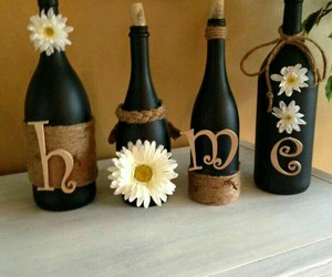 bottle, diy, and home image