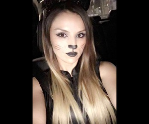cat, costume, and girl image