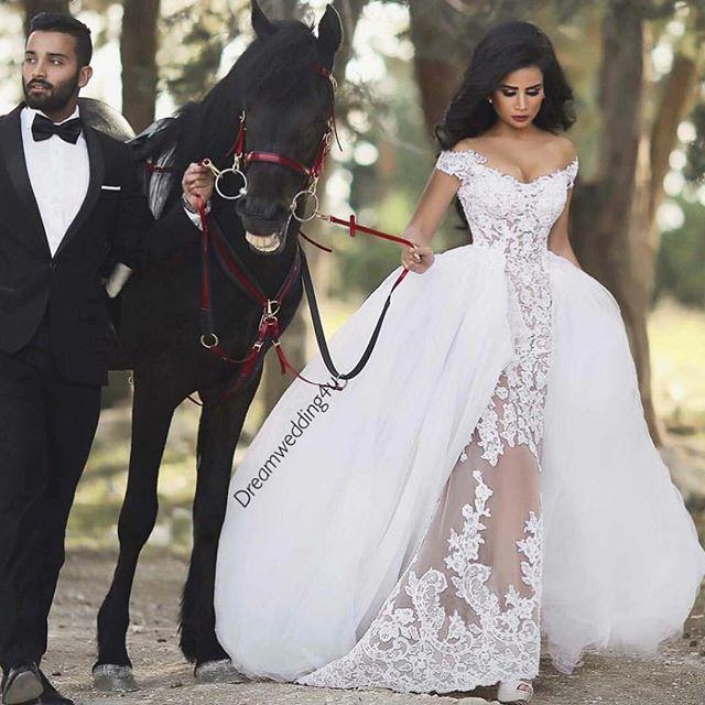 wedding, horse, and dress image