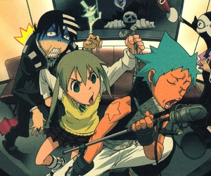 soul eater, death the kid, and black star image