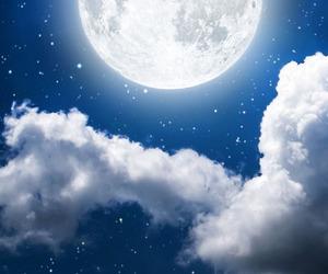 full moon, moon, and night image