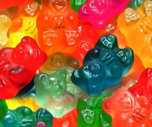 candy, colorful, and gummy bears image